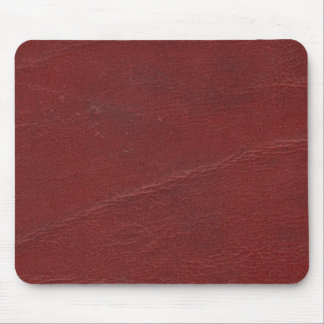 Faux Dark Red Leather Mouse Pad