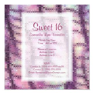 Faux Dragon Skin (rose quartz) 13 Cm X 13 Cm Square Invitation Card