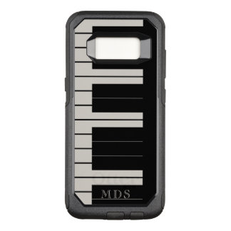 Faux Ebony Ivory OtterBox Piano Keys Musical OtterBox Commuter Samsung Galaxy S8 Case