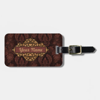 """Faux """"Embossed Leather"""" w/Brass  Luggage Tag"""