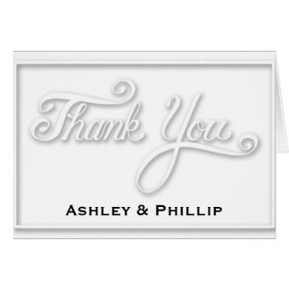 Faux Embossed Thank You Card