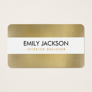 Faux Foil Business Card - rounded corners