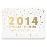 Faux Foil Confetti   Graduation Invitation