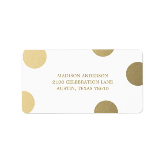 Faux Foil Dots | Graduation Address Label