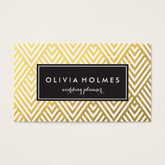 Faux Foil Gold Chevron Pattern Business Card