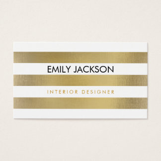 Faux Foil Stripes Business Card
