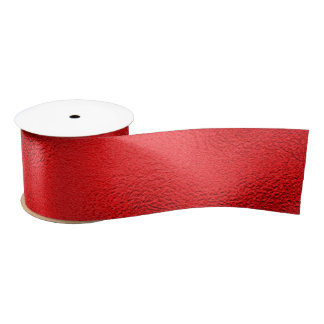 "Faux Foil Valentine Red 3"" - All Options Satin Ribbon"