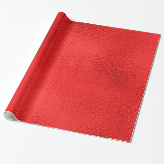 Faux Foil Valentine Rich Red  - All Options Wrapping Paper