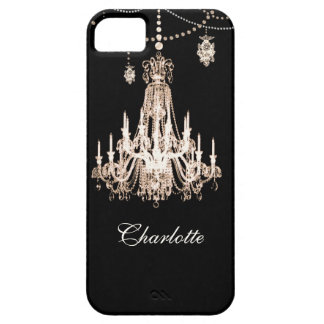FAUX French Crystal Chandelier Personalized Name iPhone 5 Covers
