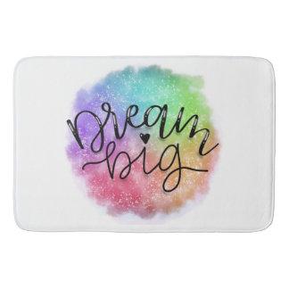 Faux Galaxy Watercolor Rainbow Dream Big Bath Mat
