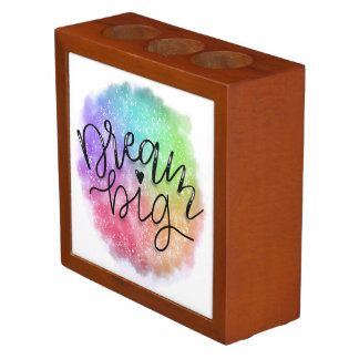 Faux Galaxy Watercolor Rainbow Dream Big Desk Organiser