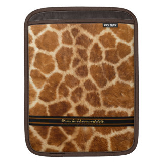 Faux Giraffe Fur iPad Sleeve