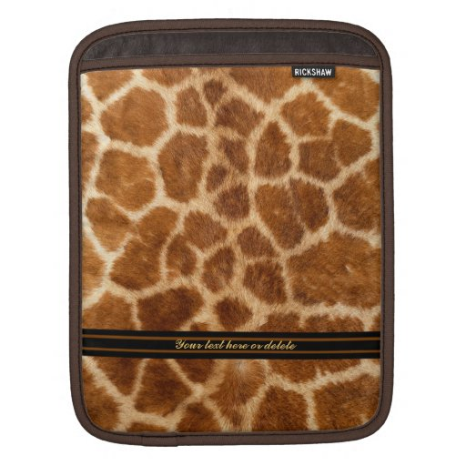 Faux Giraffe Fur iPad Sleeve
