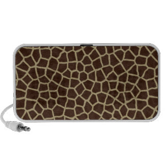 faux giraffe print iPod speakers