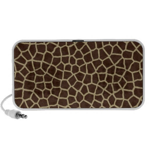 faux giraffe print iPod speakers