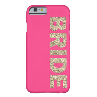 Faux Glitter Bride iPhone 6 Case in Pink Barely There iPhone 6 Case