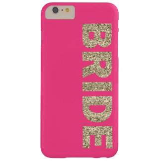 Faux Glitter Bride iPhone 6+ Case in Pink Barely There iPhone 6 Plus Case