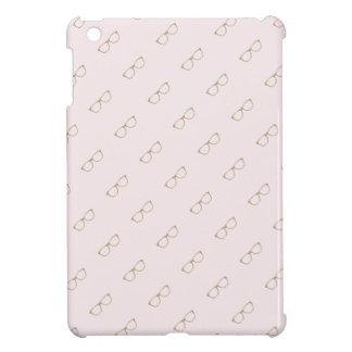 Faux Glitter Gold Glasses Pink iPad Mini Case