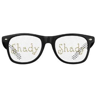 Faux Glitter Gold Shady Retro Sunglasses