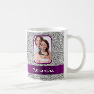 Faux glitter photo background coffee mug