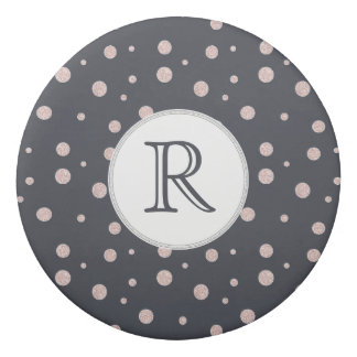 FAUX glitter rose gold blush dotty pattern Eraser