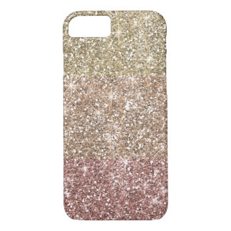 Faux Glitter Rose Gold Ombre Pattern Girly iPhone 8/7 Case
