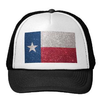 Faux Glitter Texas flag Cap