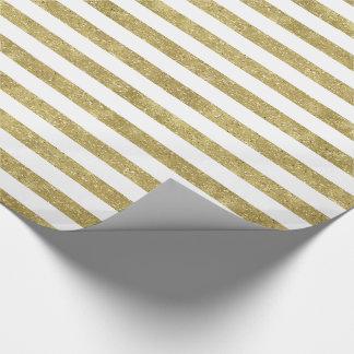 Faux Glittery Gold Stripes