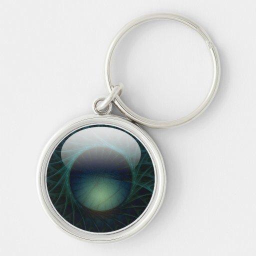 faux gloss jewel keychain