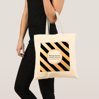 Faux Gold and Black Stripe | Basic Tote