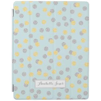 Faux Gold and Silver Confetti Personalized iPad Smart Cover