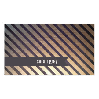 Faux Gold and Wood Business Card