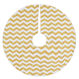 Faux Gold Chevron - Christmas Tree Skirt