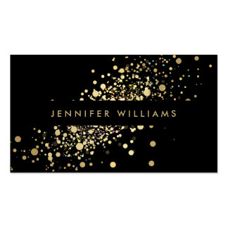 Faux Gold Confetti Dots Event Planner, Stylist Pack Of Standard Business Cards