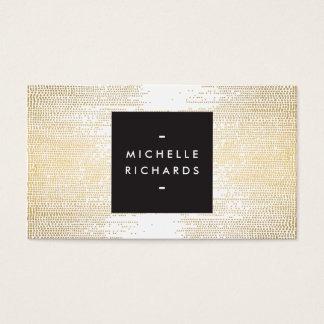Faux Gold Confetti Dots Pattern Modern Business Card