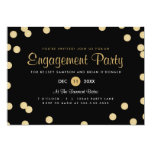Faux Gold Confetti Engagement Party Invite 13 Cm X 18 Cm Invitation Card
