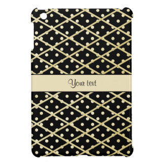 Faux Gold Diamonds & Polka Dots iPad Mini Cover