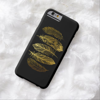 Faux Gold Feather Tribal Print iPhone Case