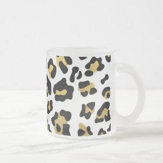 Faux Gold Foil Black Leopard Print Pattern Coffee Mug
