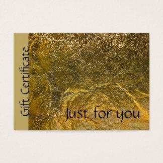 Faux Gold Foil Black Modern Gift Certificate