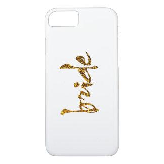 Faux Gold Foil Bride iPhone 7 Case