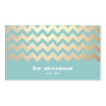 FAUX Gold Foil Chevron Pattern and Turquoise Blue