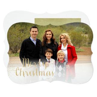 Faux Gold Foil Christmas Photo Card