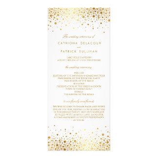 Faux Gold Foil Confetti Elegant Wedding Programs Personalized Announcement
