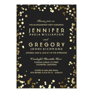 Faux Gold Foil Confetti Engagement Party 13 Cm X 18 Cm Invitation Card