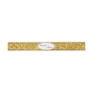 Faux Gold Foil Elegant Formal Classy Wedding Band Invitation Belly Band