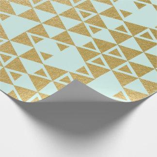 Faux Gold Foil Geometric Triangle Pattern