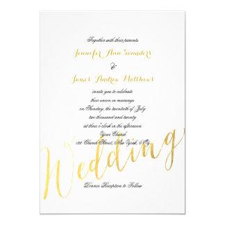 Faux Gold Foil Glamor | Wedding Invitation