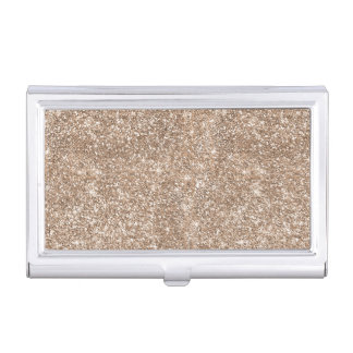 Faux Gold Foil Glitter Background Sparkle Template Business Card Holder