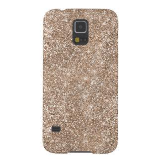 Faux Gold Foil Glitter Background Sparkle Template Galaxy S5 Case